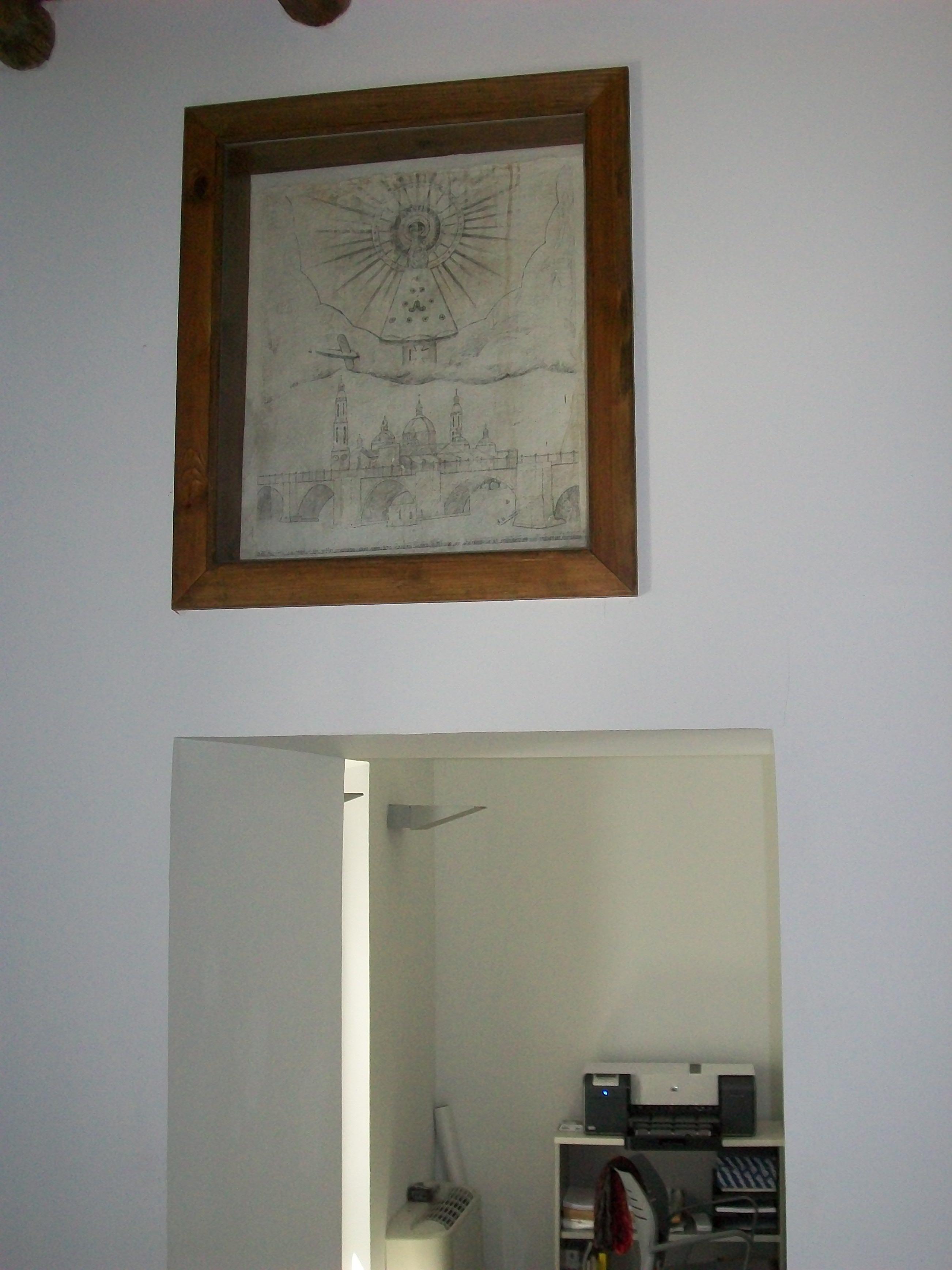 Historia del dibujo de un soldado en la pared