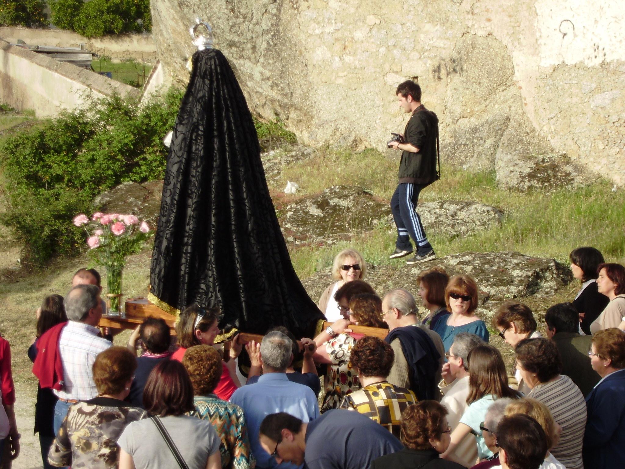 La traida de la Virgen de la Soledad, el primer acto litúrgico