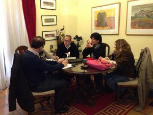 Primera reunión para preparar intercambios culturales con Fundao (Portugal)